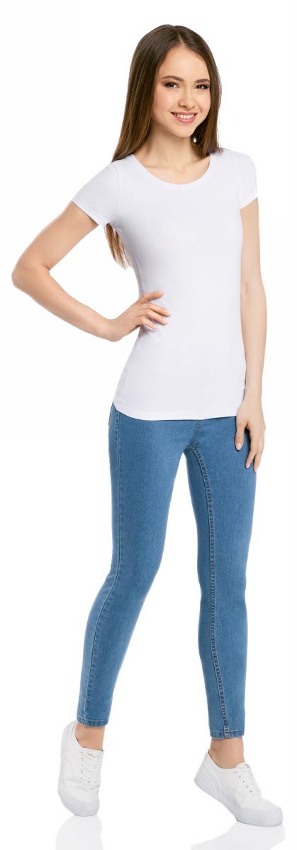 Футболка женская oodji Ultra, цвет: черный, белый, темно-синий, 3 шт. 14701005T3/46147/19ANN. Размер XS (42)14701005T3/46147/19ANNЖенская футболка oodji Ultra выполнена из эластичного хлопка. Модель с круглым вырезом горловины и короткими рукавами. В комплект входят три футболки.