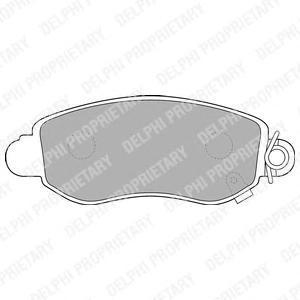 Тормозные колодки дисковыеDELPHI LP1582LP1582Колодки тормозные передние DELPHI, комплект на ось. LP1582
