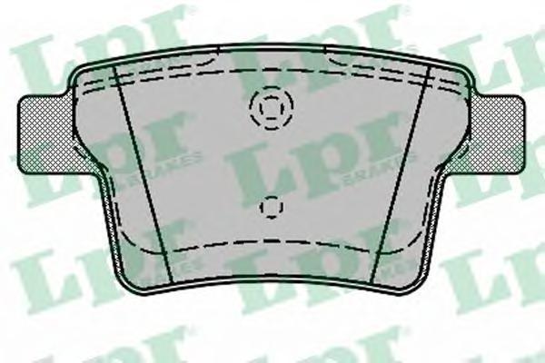 Колодки тормозные задние LPR / AP 05P132605P1326