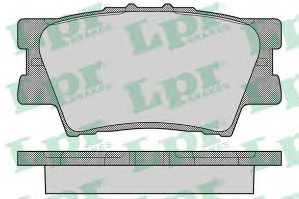LPR / AP Колодки тормозные. 05P1281 ap 9803
