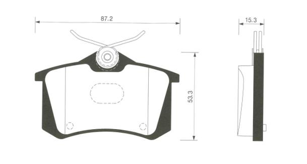 Тормозные колодки дисковые Sangsin SP1391SP1391Колодки тормозные задние Sangsin. SP1391
