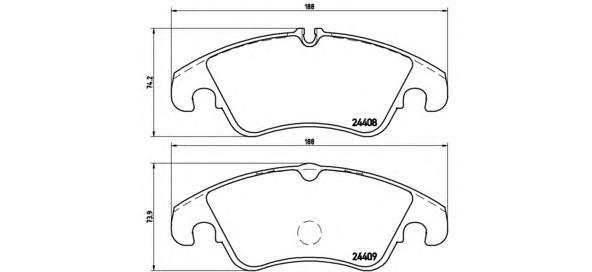 Тормозные колодки дисковые Brembo P85098P85098Колодки тормозные дисковые передние Brembo Audi A4/A5/A6/A7. P85098