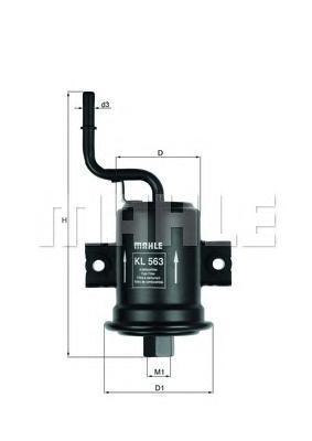 Топливный фильтр Mahle/Knecht KL563KL563Фильтр топливный TOYOTA: COROLLA 00-02, COROLLA Compact 00-02, COROLLA Liftback 00-02, COROLLA Wagon Mahle/Knecht. KL563