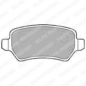 Тормозные колодки дисковыеDELPHI LP1681LP1681Колодки тормозные дисковые DELPHI. LP1681