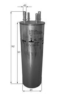 Фильтр топливный Mahle KL229/4KL229/4