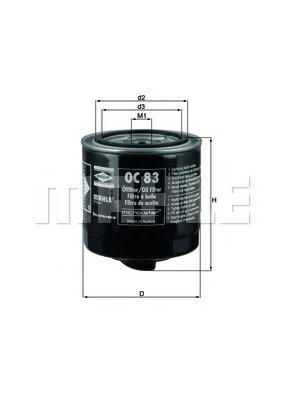 Масляный фильтр Mahle/Knecht OC83OC83Фильтр масляный SCANIA (173171 Mahle/Knecht. OC83