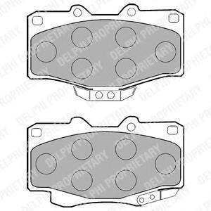 Тормозные колодки дисковыеDELPHI LP854LP854Колодки тормозные дисковые DELPHI. LP854