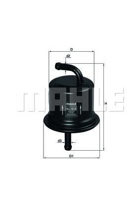 Топливный фильтр Mahle/Knecht KL515KL515Фильтр топливный SUZUKI: LIANA 02-, LIANA универсал 01-, WAGON R+ 00- Mahle/Knecht. KL515