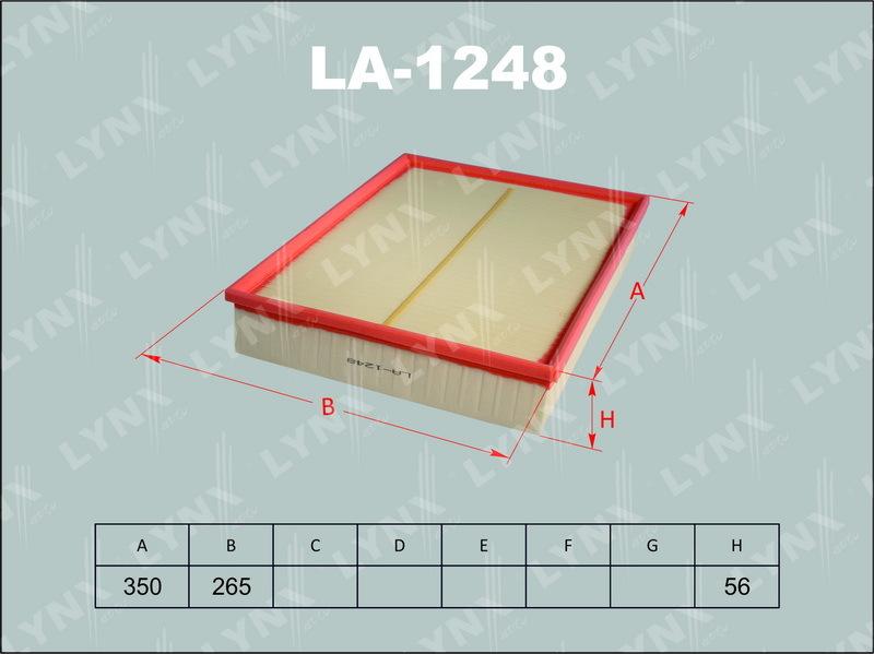 Воздушный фильтр Lynx LA1248LA1248Фильтр воздушный MB Sprinter 3-t/3.5-t/4.6-t/5-t ( Lynx. LA1248