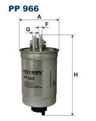 Фильтр топливный FIAT DOBLO/PUNTO 1.9 D 01- Fiat Doblo I, Palio, Punto II, StradaPP966