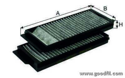 Салонный фильтр Goodwill AG3422KCFCAG3422KCFCФильтр салона уг. 342 2K СFC AG GW MAZDA 3/5 Goodwill. AG3422KCFC