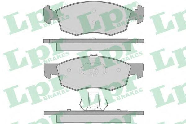LPR / AP Колодки тормозные дисковые комплект. 05P756 lpr 01031 lpr комплект тормозных колодок стояночная тормозная система