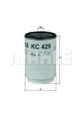 Топливный фильтр Mahle/Knecht KC429DKC429DФильтр топливный VOLVO FH/FM/RVI KERAX/MAGNUM 10.0 Mahle/Knecht. KC429D