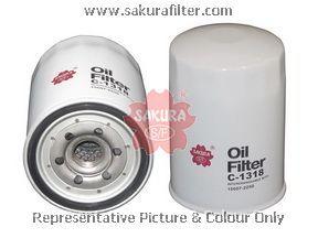 Масляный фильтр Sakura C1318C1318Фильтр масл. Sakura Sakura авто. C1318