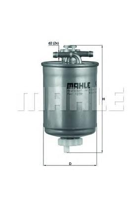 Топливный фильтр Mahle/Knecht KL103KL103Фильтр топливный VW/Seat (6K0 127 401G) Knecht Mahle/Knecht. KL103