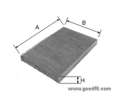 Салонный фильтр Goodwill AG270CFCAG270CFCФильтр салона уг. 270 CFC AG GW OPEL Astra G, H/Zafira A Goodwill. AG270CFC