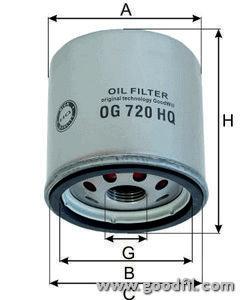 Масляный фильтр Goodwill OG720HQOG720HQФильтр масл. 720 HQ ОG GW Saab Goodwill. OG720HQ