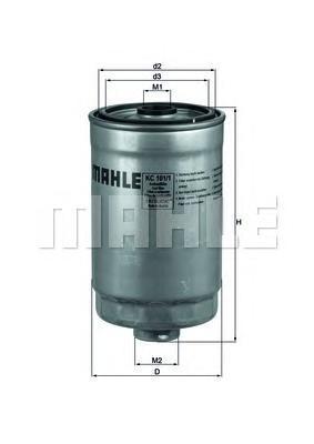 Фильтр топливный Mahle KC101/1KC101/1