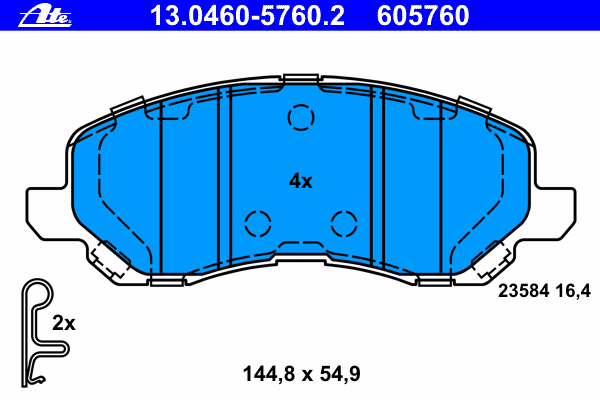 Комплект тормозных колодокAte 13.0460-5760.213.0460-5760.2