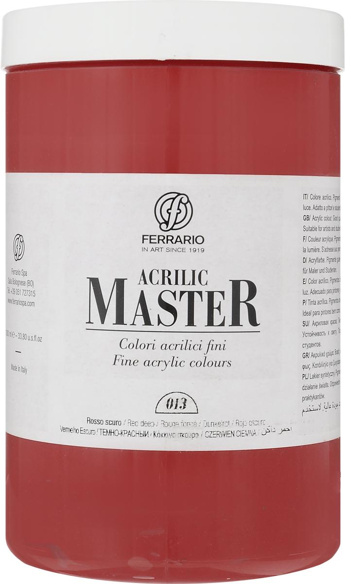 Ferrario Краска акриловая Acrilic Master цвет №13 оранжевый темный BM0979E013BM0979E013Акриловые краски серии ACRILIC MASTER итальянской компании Ferrario. Универсальны в применении, так как хорошо ложатся на любую обезжиренную поверхность: бумага, холст, картон, дерево, керамика, пластик. При изготовлении красок используются высококачественные пигменты мелкого помола. Краска быстро сохнет, обладает отличной укрывистостью и насыщенностью цвета. Работы, сделанные с помощью ACRILIC MASTER, не тускнеют и не выгорают на солнце. Все цвета отлично смешиваются между собой и при необходимости разбавляются водой. Для достижения необходимых эффектов применяют различные медиумы для акриловой живописи. В серии представлено 50 цветов.