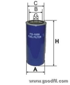 Топливный фильтр Goodwill FG1058FG1058Фильтр топливный Goodwill. FG1058