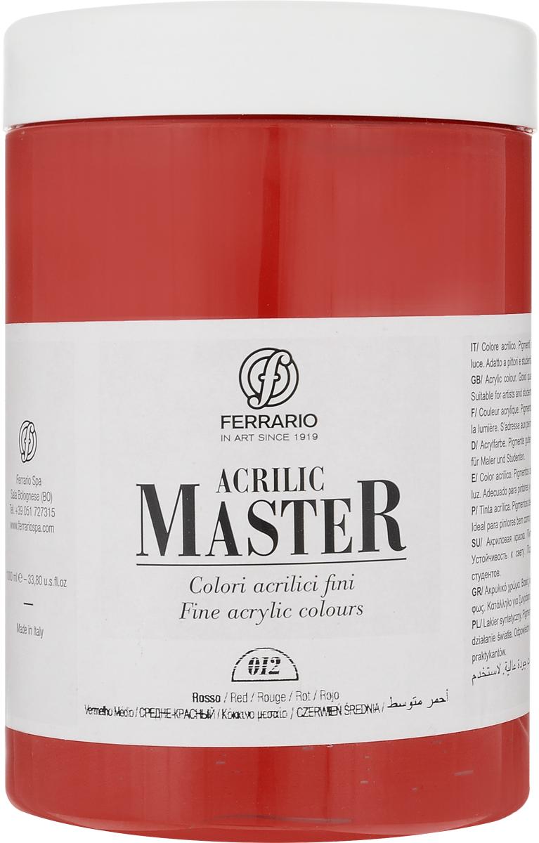 Ferrario Краска акриловая Acrilic Master цвет №12 оранжевый средний BM0979E012BM0979E012Акриловые краски серии Acrilic Master итальянской компании Ferrario универсальны в применении, так как хорошо ложатся на любую обезжиренную поверхность: бумага, холст, картон, дерево, керамика, пластик.При изготовлении красок используются высококачественные пигменты мелкого помола. Краска быстро сохнет, обладает отличной укрывистостью и насыщенностью цвета. Работы, выполненные с помощью Acrilic Master, не тускнеют и не выгорают на солнце. Все цвета отлично смешиваются между собой и при необходимости разбавляются водой. Для достижения необходимых эффектов применяют различные медиумы для акриловой живописи.В серии представлено 50 цветов.