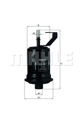 Топливный фильтр Mahle/Knecht KL507KL507Фильтр топливный TOYOTA AVENSIS 1.6-1.8 -10/00 Mahle/Knecht. KL507