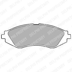 Тормозные колодки дисковыеDELPHI LP1779LP1779Колодки тормозные дисковые DELPHI. LP1779