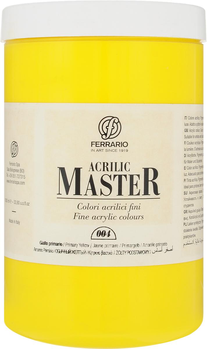 Ferrario Краска акриловая Acrilic Master цвет №04 желтый светлый BM0979E004BM0979E004Акриловые краски серии Acrilic Master итальянской компании Ferrario универсальны в применении, так как хорошо ложатся на любую обезжиренную поверхность: бумага, холст, картон, дерево, керамика, пластик.При изготовлении красок используются высококачественные пигменты мелкого помола. Краска быстро сохнет, обладает отличной укрывистостью и насыщенностью цвета. Работы, выполненные с помощью Acrilic Master, не тускнеют и не выгорают на солнце. Все цвета отлично смешиваются между собой и при необходимости разбавляются водой. Для достижения необходимых эффектов применяют различные медиумы для акриловой живописи.В серии представлено 50 цветов.