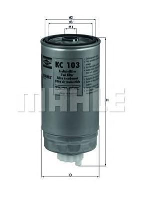 Фильтр топливный Mahle KC103KC103