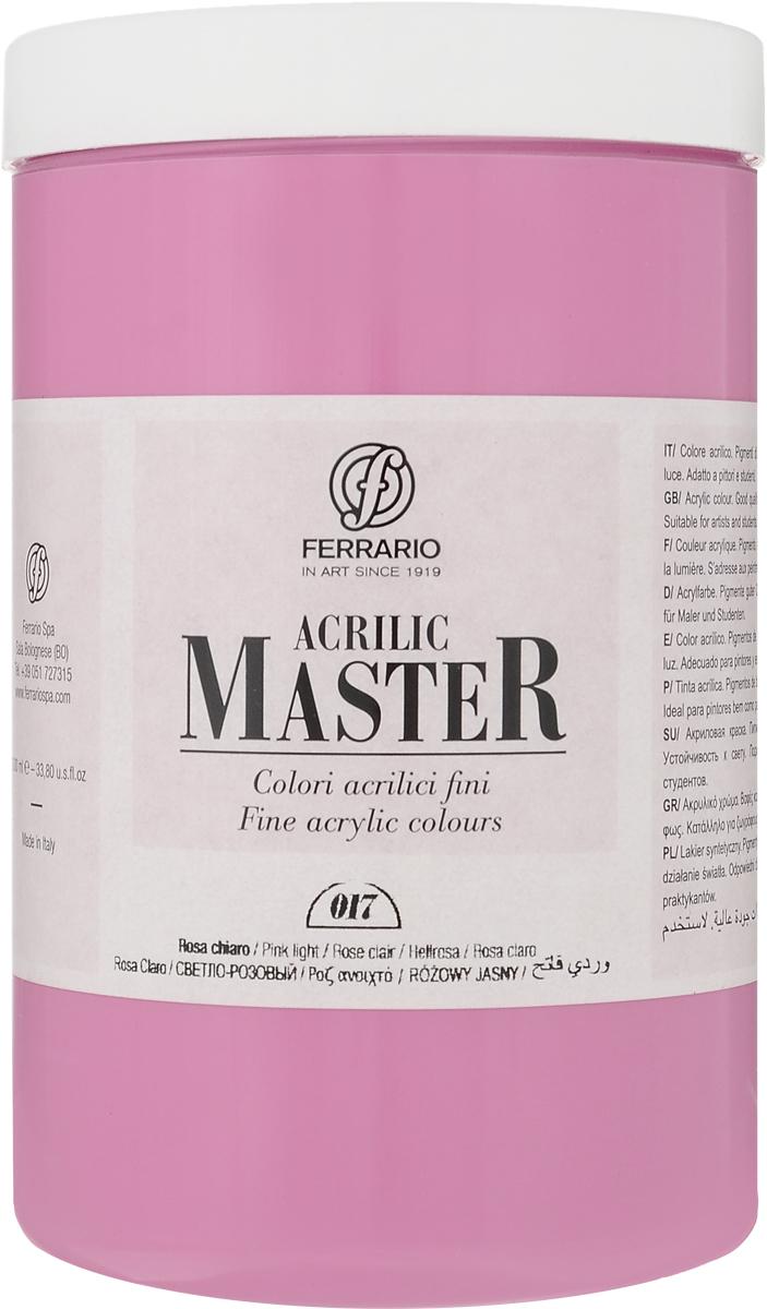 Ferrario Краска акриловая Acrilic Master цвет №17 розовый светлый BM0979E017BM0979E017Акриловые краски серии Acrilic Master итальянской компании Ferrario универсальны в применении, так как хорошо ложатся на любую обезжиренную поверхность: бумага, холст, картон, дерево, керамика, пластик.При изготовлении красок используются высококачественные пигменты мелкого помола. Краска быстро сохнет, обладает отличной укрывистостью и насыщенностью цвета. Работы, выполненные с помощью Acrilic Master, не тускнеют и не выгорают на солнце. Все цвета отлично смешиваются между собой и при необходимости разбавляются водой. Для достижения необходимых эффектов применяют различные медиумы для акриловой живописи.В серии представлено 50 цветов.