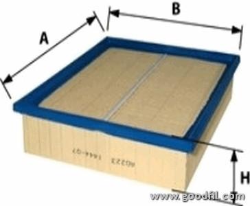 Воздушный фильтр Goodwill AG223 газонокосилка электрическая зубр згкэ 33 1000
