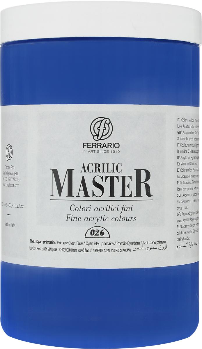 Ferrario Краска акриловая Acrilic Master цвет №26 сине-голубой BM0979E026BM0979E026Акриловые краски серии Acrilic Master итальянской компании Ferrario универсальны в применении, так как хорошо ложатся на любую обезжиренную поверхность: бумага, холст, картон, дерево, керамика, пластик.При изготовлении красок используются высококачественные пигменты мелкого помола. Краска быстро сохнет, обладает отличной укрывистостью и насыщенностью цвета. Работы, выполненные с помощью Acrilic Master, не тускнеют и не выгорают на солнце. Все цвета отлично смешиваются между собой и при необходимости разбавляются водой. Для достижения необходимых эффектов применяют различные медиумы для акриловой живописи.В серии представлено 50 цветов.