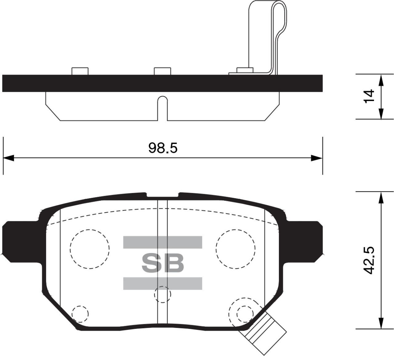 Тормозные колодки дисковые Sangsin SP2094SP2094Колодки тормозные задние дисковые TOYOTA Auris (E1 Sangsin. SP2094