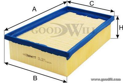 Воздушный фильтр Goodwill AG563 салонный фильтр goodwill ag932cfc