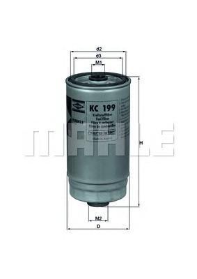 Топливный фильтр Mahle/Knecht KC199KC199[KC199] Knecht (Mahle Filter)Фильтр топливный Mahle/Knecht. KC199