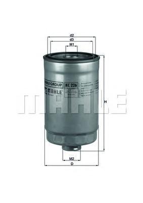 Фильтр топливный Mahle KC226KC226