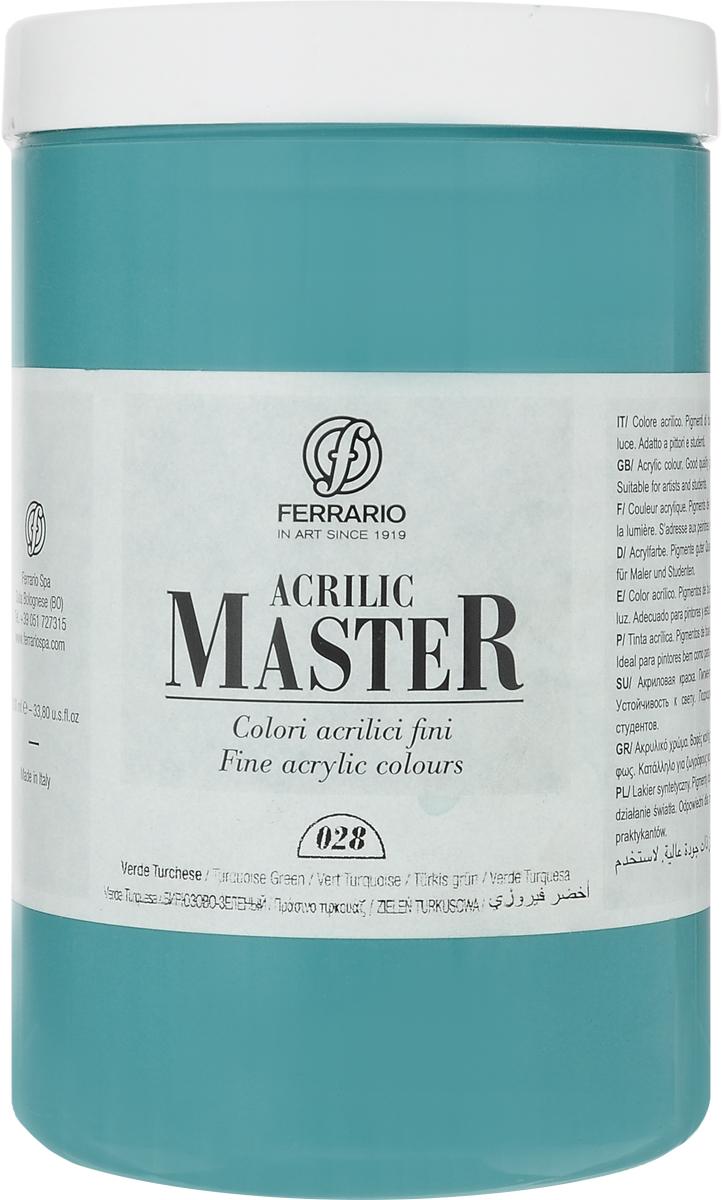 Ferrario Краска акриловая Acrilic Master цвет №28 турецкий зеленый BM0979E028BM0979E028Акриловые краски серии ACRILIC MASTER итальянской компании Ferrario. Универсальны в применении, так как хорошо ложатся на любую обезжиренную поверхность: бумага, холст, картон, дерево, керамика, пластик. При изготовлении красок используются высококачественные пигменты мелкого помола. Краска быстро сохнет, обладает отличной укрывистостью и насыщенностью цвета. Работы, сделанные с помощью ACRILIC MASTER, не тускнеют и не выгорают на солнце. Все цвета отлично смешиваются между собой и при необходимости разбавляются водой. Для достижения необходимых эффектов применяют различные медиумы для акриловой живописи. В серии представлено 50 цветов.
