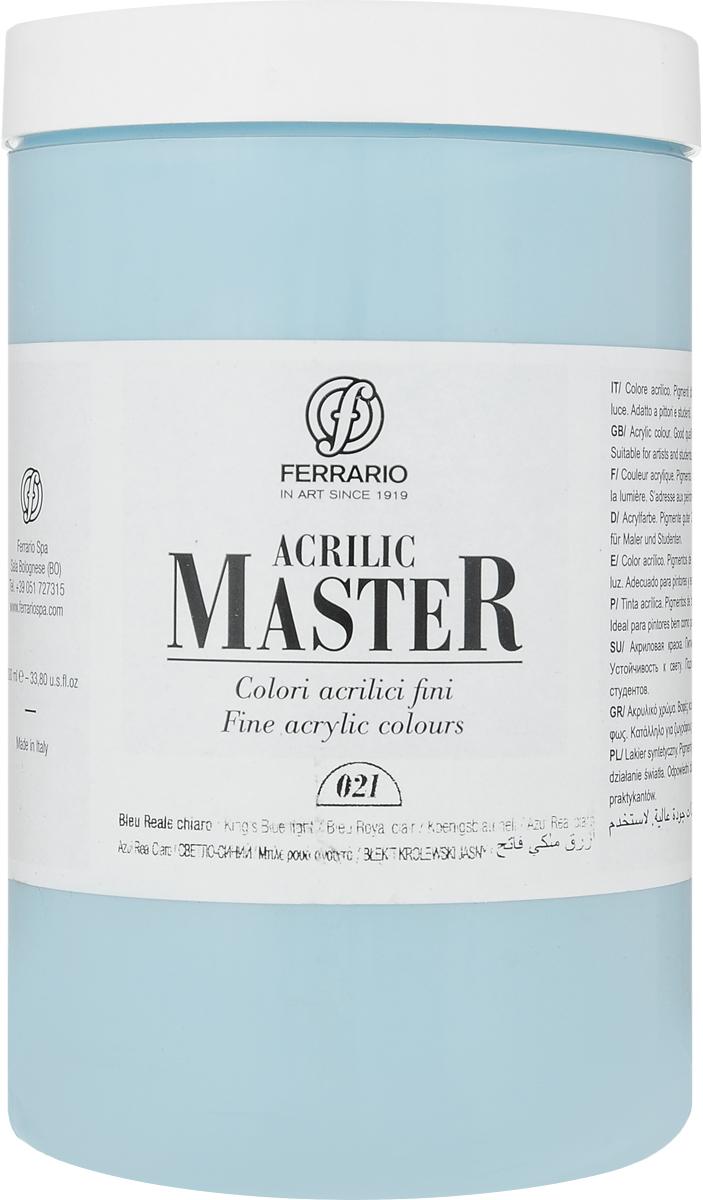Ferrario Краска акриловая Acrilic Master цвет №21 королевский светлый голубойBM0979E021Акриловые краски серии ACRILIC MASTER итальянской компании Ferrario. Универсальны в применении, так как хорошо ложатся на любую обезжиренную поверхность: бумага, холст, картон, дерево, керамика, пластик. При изготовлении красок используются высококачественные пигменты мелкого помола. Краска быстро сохнет, обладает отличной укрывистостью и насыщенностью цвета. Работы, сделанные с помощью ACRILIC MASTER, не тускнеют и не выгорают на солнце. Все цвета отлично смешиваются между собой и при необходимости разбавляются водой. Для достижения необходимых эффектов применяют различные медиумы для акриловой живописи. В серии представлено 50 цветов.