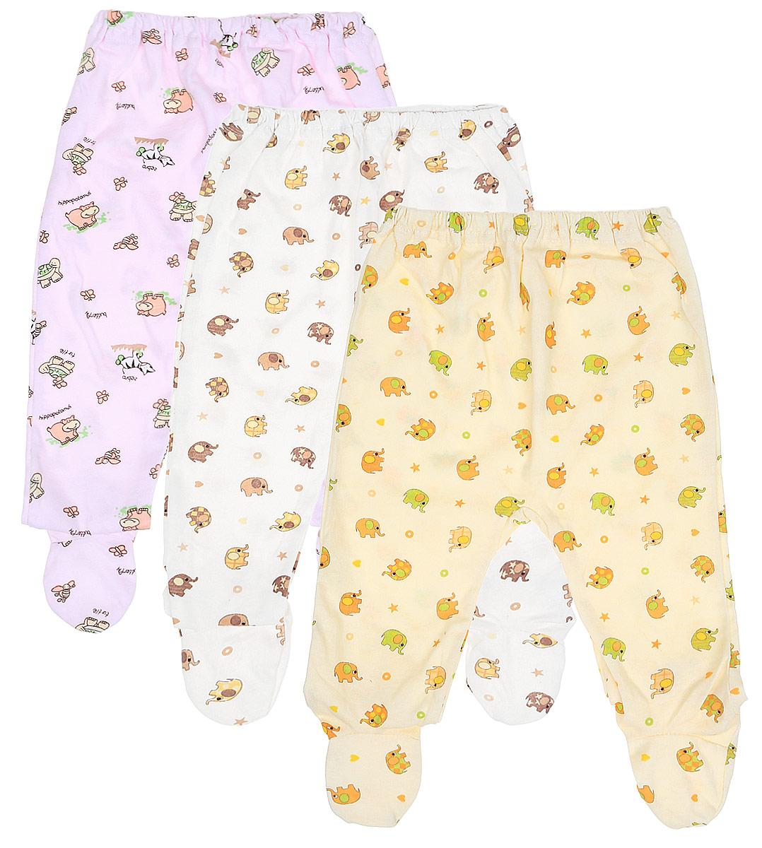 Ползунки для девочки Фреш стайл, цвет: розовый, желтый, белый, 3 шт. 10-506д. Размер 6810-506дКомплект Фреш Стайл состоит из трех ползунков с закрытыми ножками для девочки.Ползунки послужат идеальным дополнением к гардеробу малышки, обеспечивая ей наибольший комфорт. Изготовленные из натурального хлопка, они необычайно мягкие и легкие, не раздражают нежную кожу ребенка и хорошо вентилируются, а эластичные швы приятны телу малыша и не препятствуют его движениям. Ползунки дополнены мягкой резинкой, не сдавливающей животик ребенка. Украшены ползунки яркими оригинальными рисунками. Оригинальный дизайн и яркая расцветка делают эти ползунки модным и стильным предметом детского гардероба. В них вашей малышке всегда будет комфортно и уютно. УВАЖАЕМЫЕ КЛИЕНТЫ!Обращаем ваше внимание на тот факт, что товар поставляется в цветовом ассортименте. Поставка осуществляется в зависимости от наличия на складе.