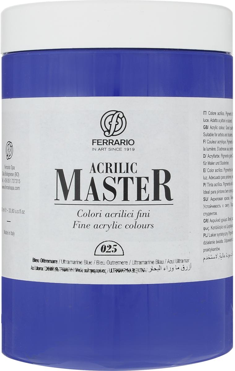 Ferrario Краска акриловая Acrilic Master цвет №25 ультрамарин синий BM0979E025BM0979E025Акриловые краски серии ACRILIC MASTER итальянской компании Ferrario. Универсальны в применении, так как хорошо ложатся на любую обезжиренную поверхность: бумага, холст, картон, дерево, керамика, пластик. При изготовлении красок используются высококачественные пигменты мелкого помола. Краска быстро сохнет, обладает отличной укрывистостью и насыщенностью цвета. Работы, сделанные с помощью ACRILIC MASTER, не тускнеют и не выгорают на солнце. Все цвета отлично смешиваются между собой и при необходимости разбавляются водой. Для достижения необходимых эффектов применяют различные медиумы для акриловой живописи. В серии представлено 50 цветов.