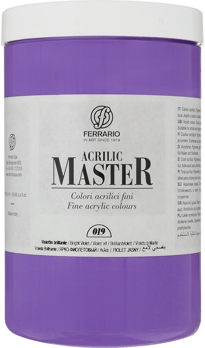 Ferrario Краска акриловая Acrilic Master цвет №19 фиолетовый яркий BM0979E01902056233Акриловые краски серии ACRILIC MASTER итальянской компании Ferrario. Универсальны в применении, так как хорошо ложатся на любую обезжиренную поверхность: бумага, холст, картон, дерево, керамика, пластик. При изготовлении красок используются высококачественные пигменты мелкого помола. Краска быстро сохнет, обладает отличной укрывистостью и насыщенностью цвета. Работы, сделанные с помощью ACRILIC MASTER, не тускнеют и не выгорают на солнце. Все цвета отлично смешиваются между собой и при необходимости разбавляются водой. Для достижения необходимых эффектов применяют различные медиумы для акриловой живописи. В серии представлено 50 цветов.