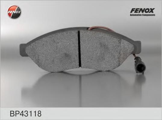 Тормозные колодки дисковые Fenox. BP43118BP43118Колодки дисковые передние Fiat Ducato 06- Citroen Jumper 06- Peugeot Boxer 06- [169,2*61,5*19,2 1 Fenox. BP43118