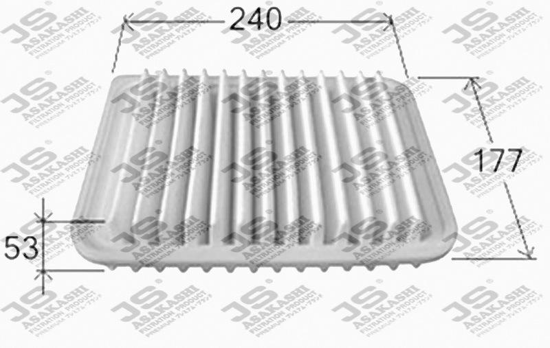 Воздушный фильтр JS Asakashi A1013 топливный фильтр js asakashi fs6505u