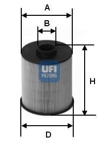 Фильтр топливный дизель UFI 26.006.0026.006.00