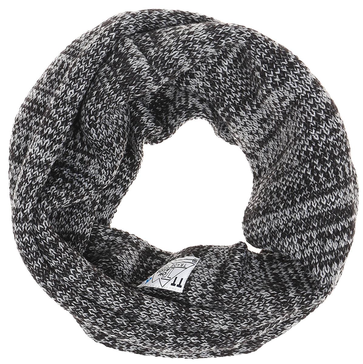 Шарф для мальчика Tom Tailor, цвет: черный, серый. 0221649.00.30_2999. Размер универсальный0221649.00.30_2999
