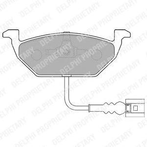 Тормозные колодки дисковыеDELPHI LP1514LP1514Колодки тормозные дисковые DELPHI. LP1514