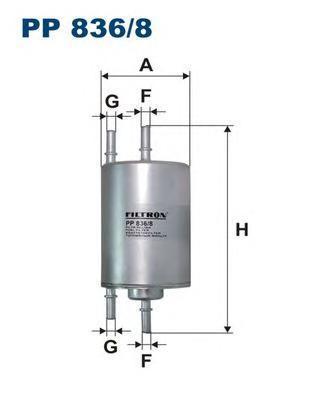 Фильтр топливный Filtron PP836/8PP836/8