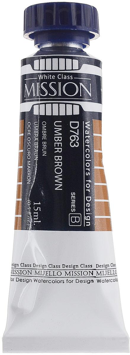 Mijello Акварель Mission White D763 Умбра жженая 15 млMWC-D763Серия акварельных красок Корейского производителя Mijello - Mission White состоит из 51 цвета. Эта серия акварели была создана компанией Mijello в сотрудничестве с экспертами в области акварельной живописи. В этой серии есть 2 специальных плотных цвета в больших тубах - белый и черный. Смешав акварель с этими цветами, вы получите плотный матовый слой и сможете работать в постерных техниках. Цвета акварели серии Mission White это смеси высококачественных пигментов тонкого помола с высококачественными компонентами и гуммиарабиком. Эти краски предлагаются в традиционной для Корейских производителей тубах по 15мл. Используйте краски Mijello серии Mission Gold для акварельной живописи по мокрому, они идеально подойдут для подобной техники работы с акварелью. Акварель Mijello Mission White будет отличным выбором как начинающему художнику, так и профессионалу.