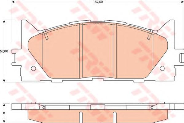 Колодки тормозные дисковые TRW/Lucas GDB3429GDB3429